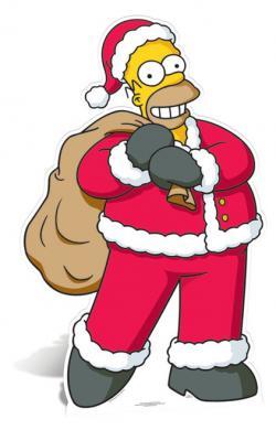 The Simpsons clipart santas