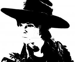 The Walking Dead clipart black and white art
