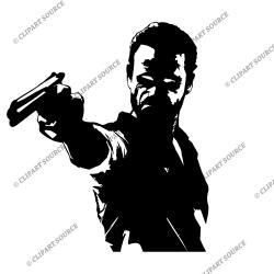 The Walking Dead clipart silhouette