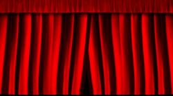 Curtain clipart closed curtain