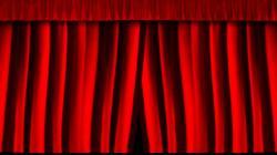 Theatre clipart closed curtain