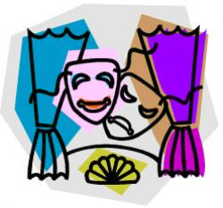 Theatre clipart readers theater