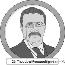 Theodore Roosevelt clipart