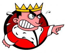 Throne clipart angry king