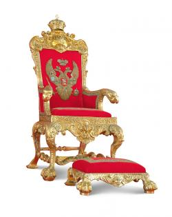 Throne clipart golden royal