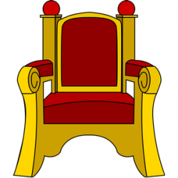 Throne clipart vector