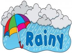 Thunderstorm clipart wet weather