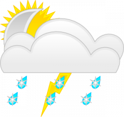Thunder clipart wet weather