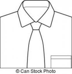 Drawn shirt tie