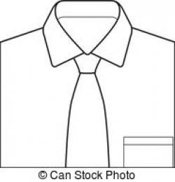 Drawn shirt tie