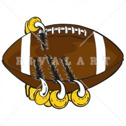 Football clipart tiger claw