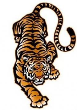 Ferocious clipart tiger