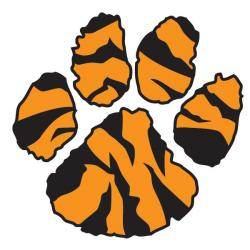 Footprint clipart tiger