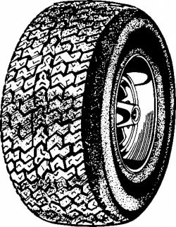 Tires clipart black and white