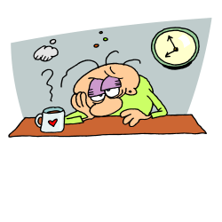 Sleeping clipart tiredness