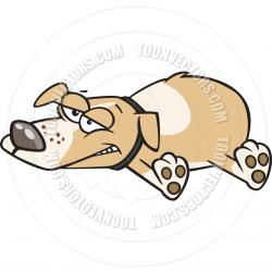 Bloodhound clipart lazy dog