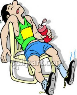 Slow clipart exhausted runner