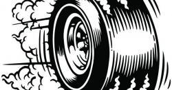 Tire clipart burnout