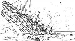 Titanic clipart coloring page