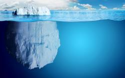 Iceberg clipart flat