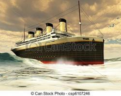 Titanic clipart ocean liner