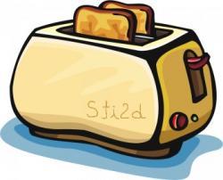 Toast clipart bread toaster