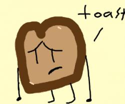 Toast clipart sad