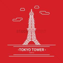 Shrine clipart tokyo tower