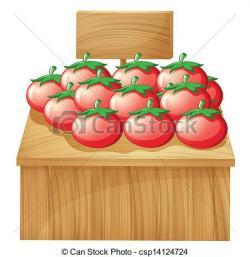 Tomato clipart stand