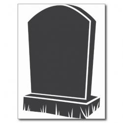 Tombstone clipart gray
