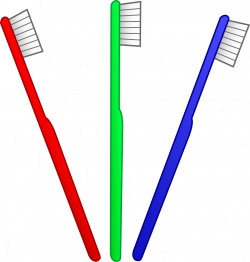 Simple clipart toothbrush