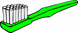 Green clipart toothbrush