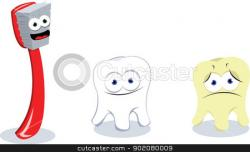 Toothbrush clipart happy