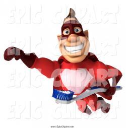 Toothbrush clipart superhero