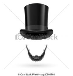 Top Hat clipart beard