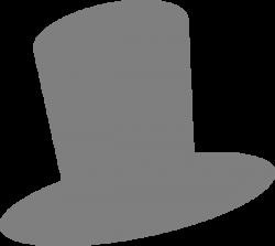 Top Hat clipart grey