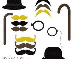 Top Hat clipart moustache style