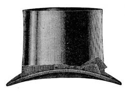 Top Hat clipart old fashion
