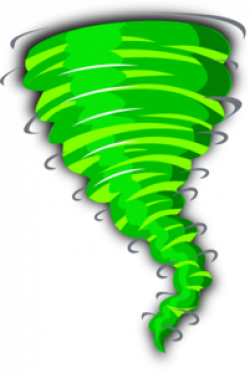 Tornado clipart colored