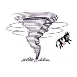 Tornado clipart cow