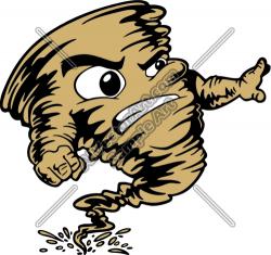 Tornado clipart mascot