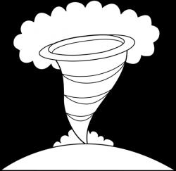 Tornado clipart outline