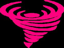 Tornado clipart pink