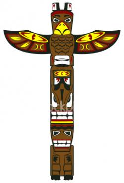 Aborigines clipart totem pole