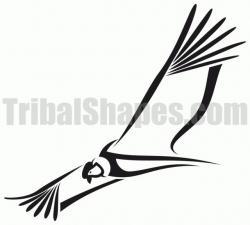 Condor clipart black and white