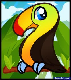 Toucanet clipart forest animal