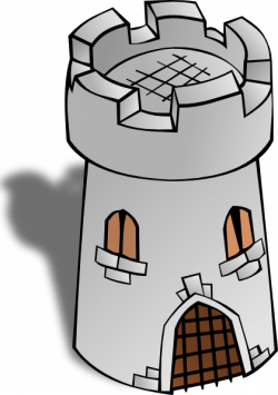 Watchtower clipart castle tower