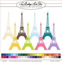 Colorful clipart paris