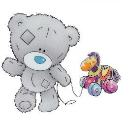 Dark Blue clipart teddy bear