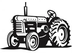 Drawn tractor vector art